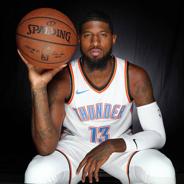 Media Day Poster featuring the photograph Paul George by Layne Murdoch