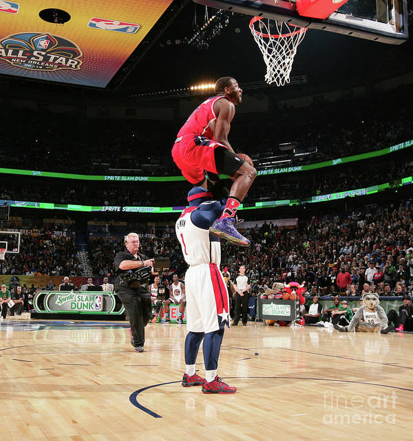 Nba Pro Basketball Poster featuring the photograph John Wall by Nathaniel S. Butler