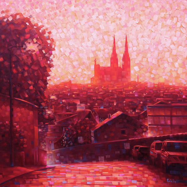 Cathedral Poster featuring the painting Cathedral Sunrise by Rob Buntin