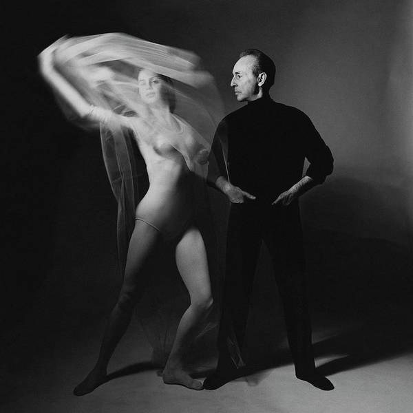 Dance Poster featuring the photograph George Balanchine and Suzanne Farrell in Don Quixote by Bert Stern