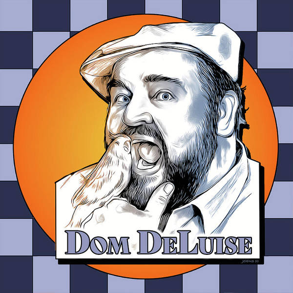 Dom Deluise Poster featuring the digital art Dom and the Bird by Greg Joens