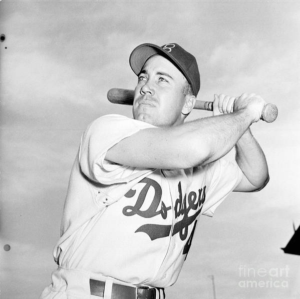 1950-1959 Poster featuring the photograph Duke Snider by Kidwiler Collection