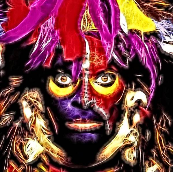 David Lee Roth Poster featuring the digital art Eat'm and Smile - David Lee Roth by Fred Larucci