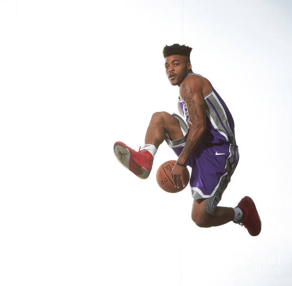 Nba Pro Basketball Poster featuring the photograph Frank Mason by Nathaniel S. Butler