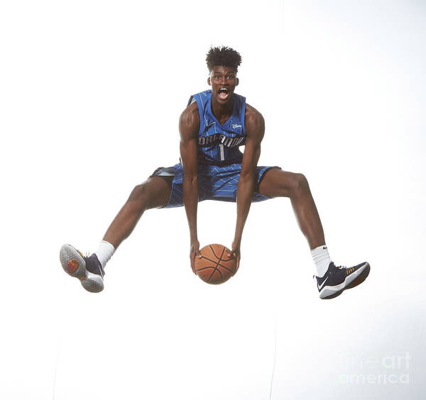 Nba Pro Basketball Poster featuring the photograph Jonathan Isaac by Nathaniel S. Butler