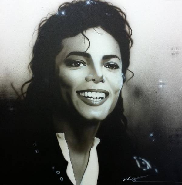 Michael Jackson Poster featuring the painting M. J. by Christian Chapman Art