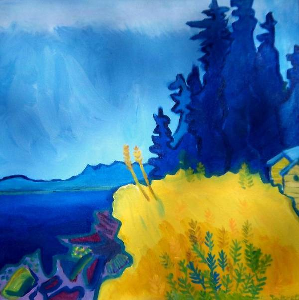 Seascape Poster featuring the painting Pemaquid Point by Debra Bretton Robinson