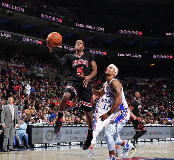 Nba Pro Basketball Poster featuring the photograph Rajon Rondo by Jesse D. Garrabrant