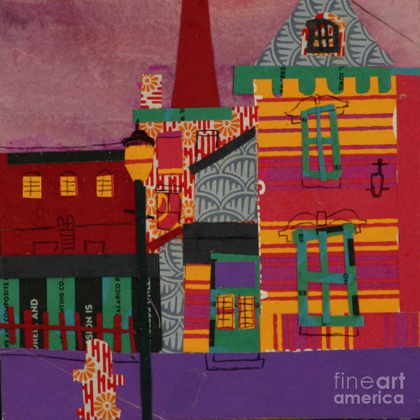 Lowell Poster featuring the mixed media Revolving Museum by Debra Bretton Robinson
