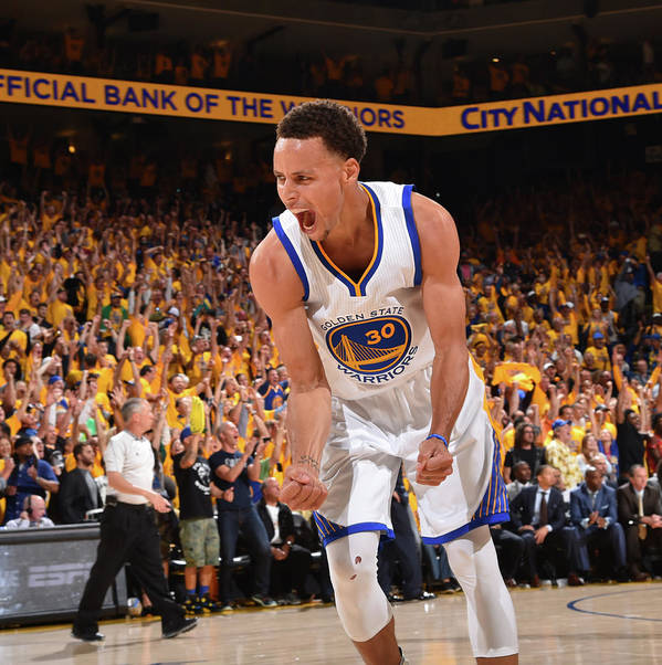 Playoffs Poster featuring the photograph Stephen Curry by Jesse D. Garrabrant