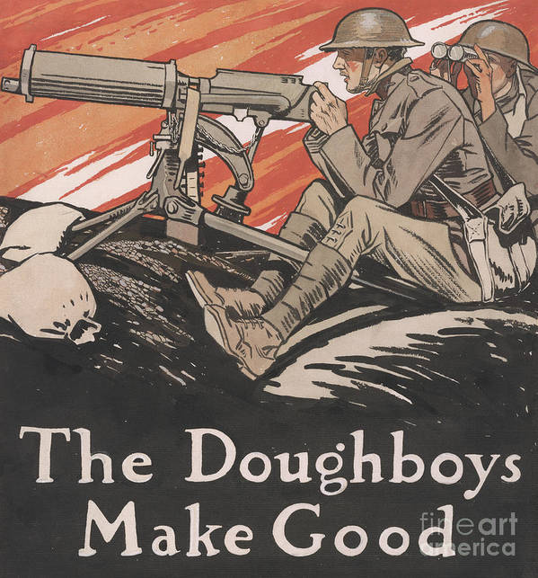 Doughboys Poster featuring the painting The Doughboys make Good, 1918 by Edward Penfield