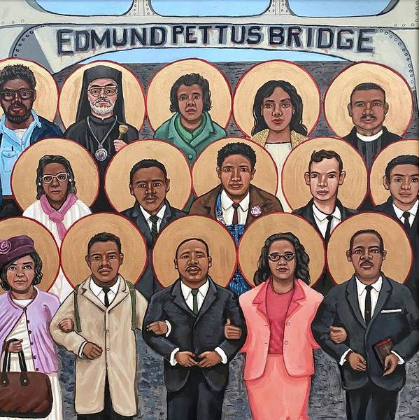 Poster featuring the painting The Saints of Selma by Kelly Latimore