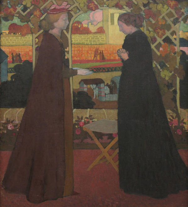 The Visitation Poster featuring the painting The Visitation by Maurice Denis