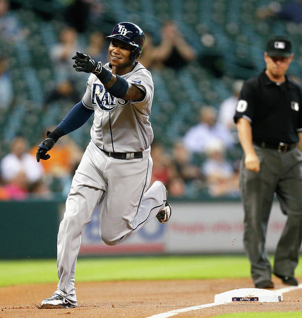 American League Baseball Poster featuring the photograph Tim Beckham by Bob Levey