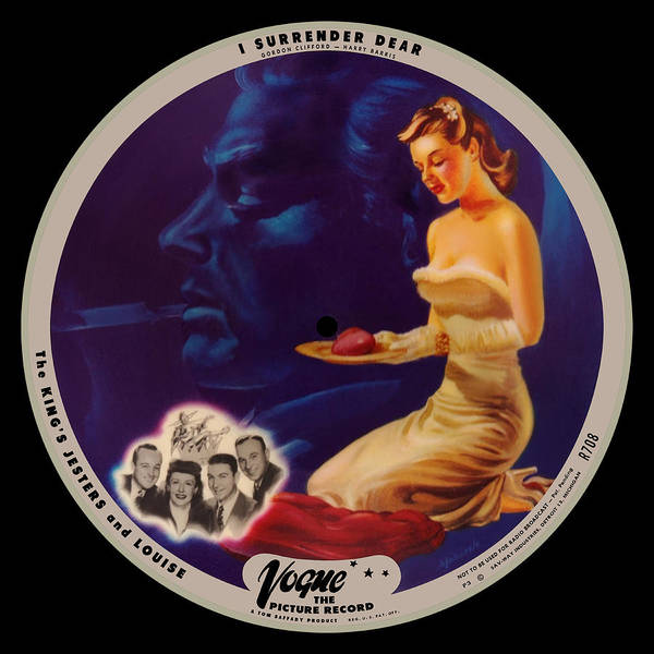Vogue Picture Record Poster featuring the digital art Vogue Record Art - R 708 - P 3 - Square Version by John Robert Beck