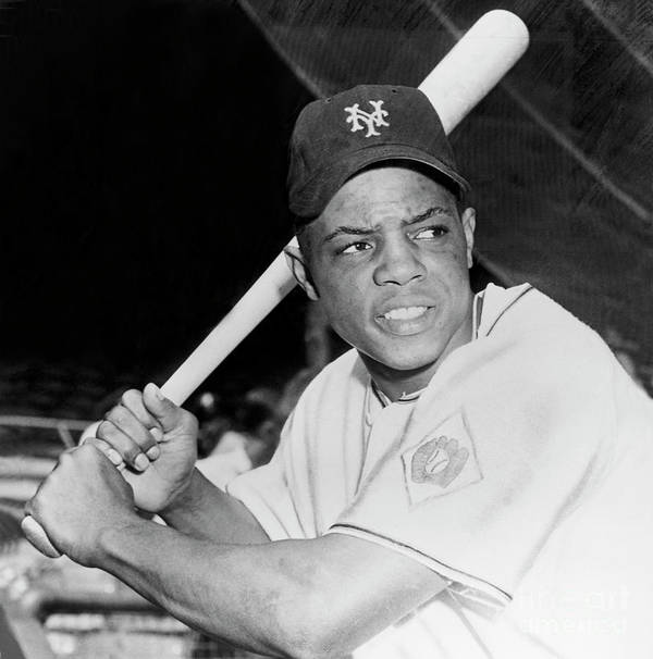 1950-1959 Poster featuring the photograph Willie Mays by National Baseball Hall Of Fame Library