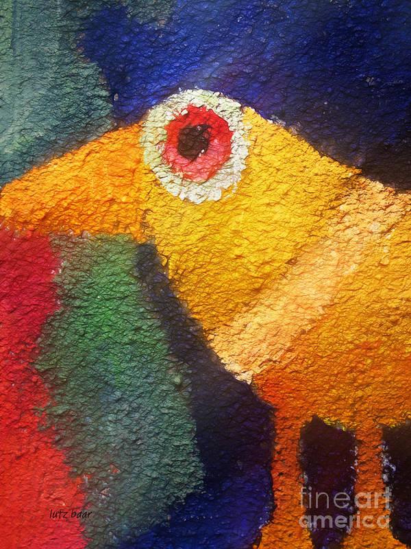 Baar Poster featuring the digital art Ancient Bird by Lutz Baar