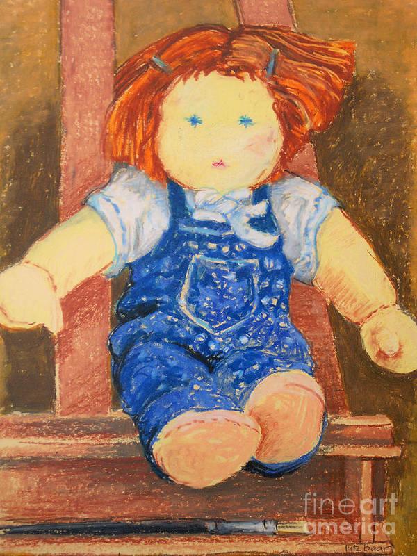 Baar Poster featuring the pastel Doll by Lutz Baar