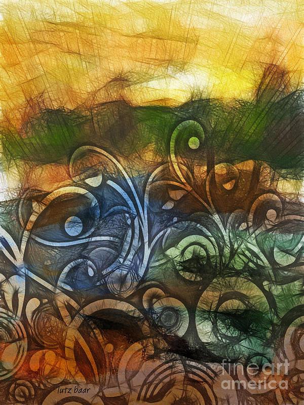 Baar Poster featuring the digital art Natures Awakening by Lutz Baar