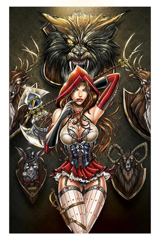 Grimm Fairy Tales Poster featuring the drawing Grimm Myths And Legends 01e - Red Riding Hood by Zenescope Entertainment