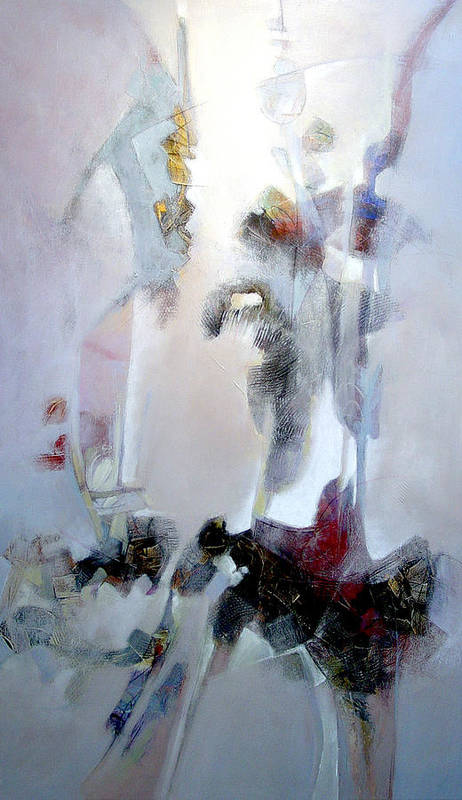 Abstract Poster featuring the painting Dignity by Dale Witherow