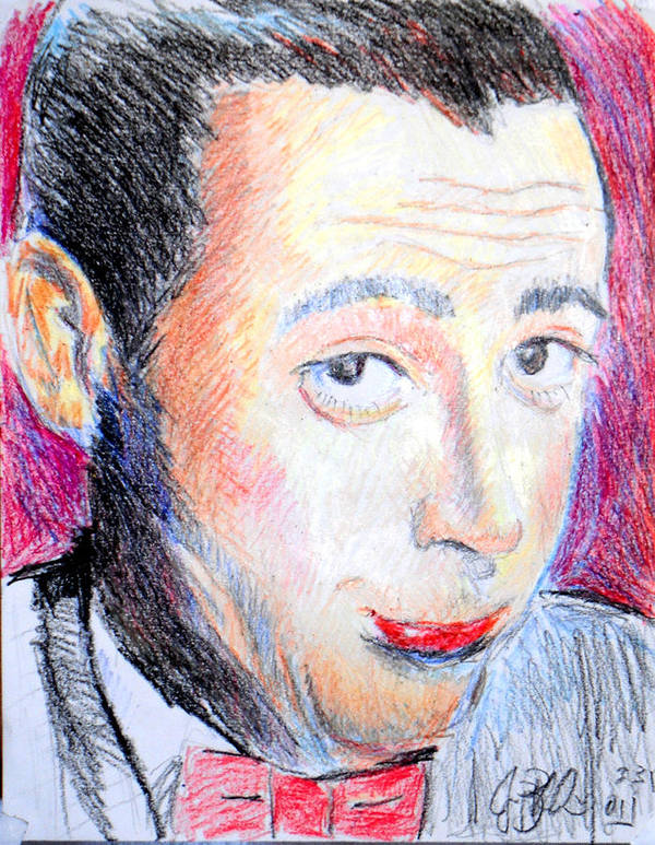 Pee Wee Poster featuring the drawing Pee Wee Herman by Jon Baldwin Art
