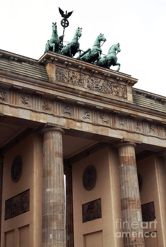 Architecture Poster featuring the photograph Brandenburg Gate by John Rizzuto