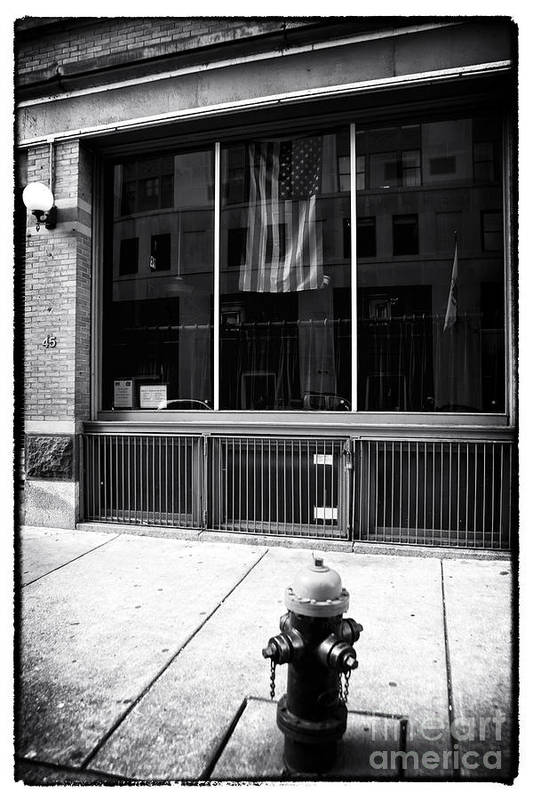 Patriotic Boston Poster featuring the photograph Patriotic Boston by John Rizzuto
