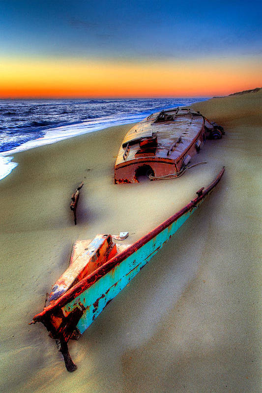 North Carolina Poster featuring the photograph Beached Beauty by Dan Carmichael