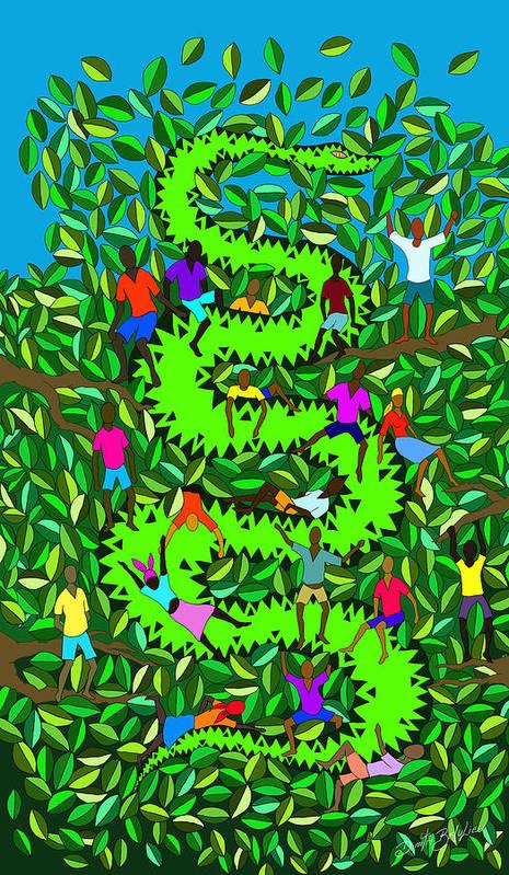 Haitian Art Poster featuring the digital art Divine Serpent by Dimitri Beaulieu