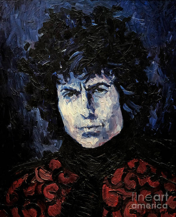 Dylan Poster featuring the painting Bob Dylan 1967 by Lutz Baar