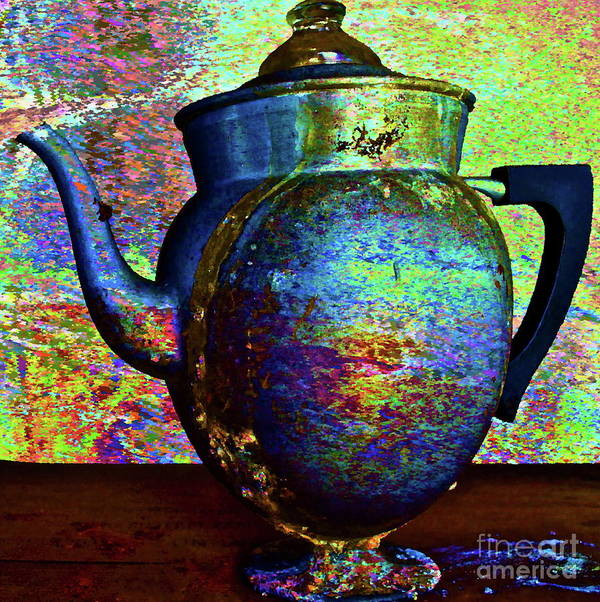 Coffee Pot Poster featuring the photograph Brewing Nostalgia by Gwyn Newcombe
