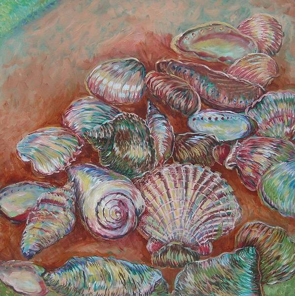 Poster featuring the painting Shells 1 by Lynn Stewart