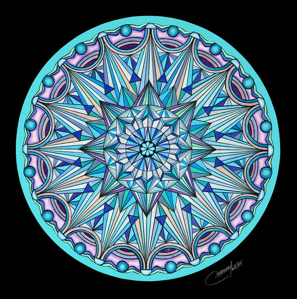 Mandala Poster featuring the painting The Peace Within by Marcia Lupo