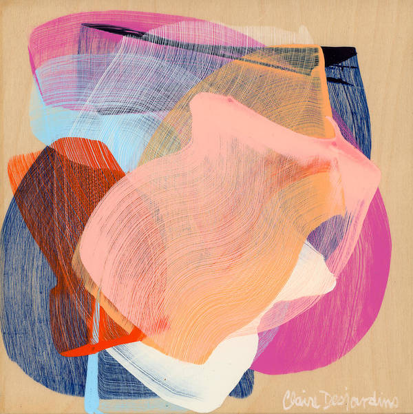 Abstract Poster featuring the painting Out Of The Blue 03 by Claire Desjardins