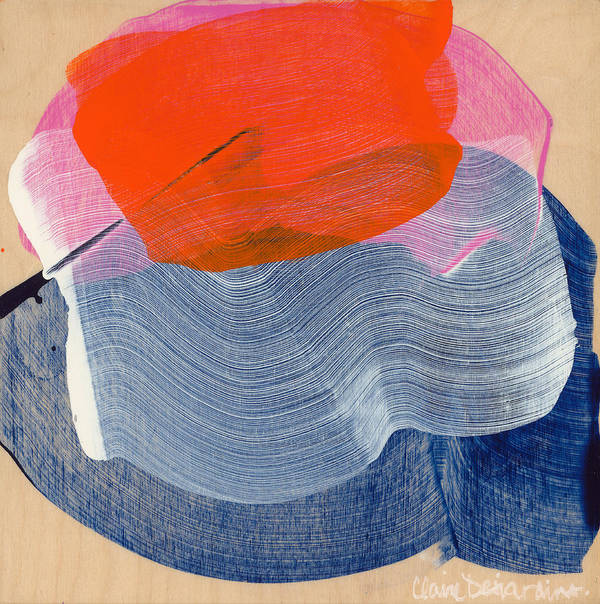 Abstract Poster featuring the painting Out Of The Blue 08 by Claire Desjardins