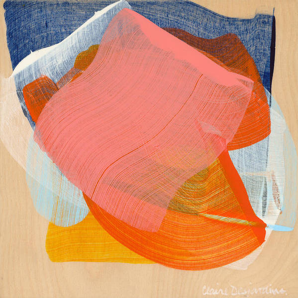 Abstract Poster featuring the painting Out Of The Blue 10 by Claire Desjardins