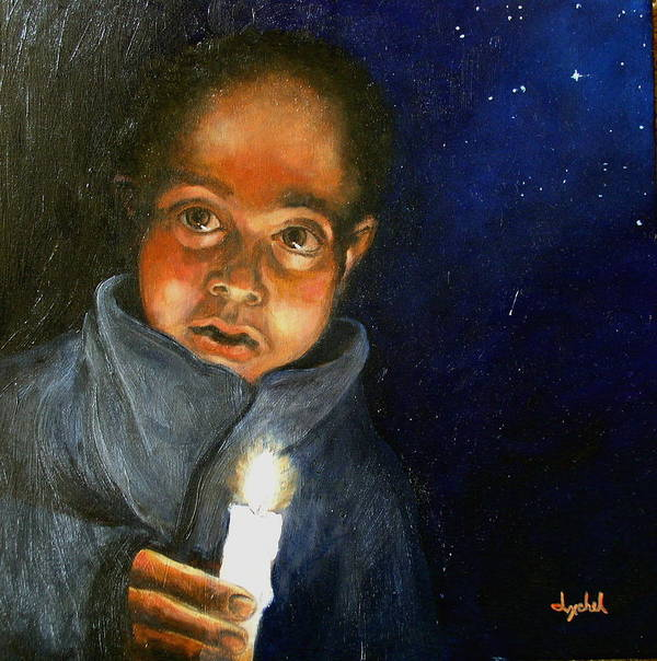 Child Poster featuring the painting Pidiendo Posada by Ixchel Amor