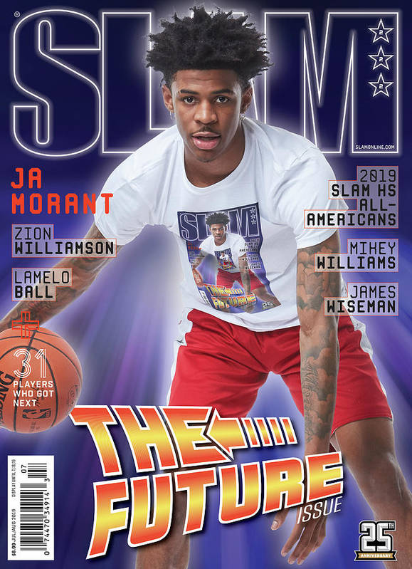 Ja Morant Poster featuring the photograph Ja Morant: The Future Issue SLAM Cover by Matthew Coughlin
