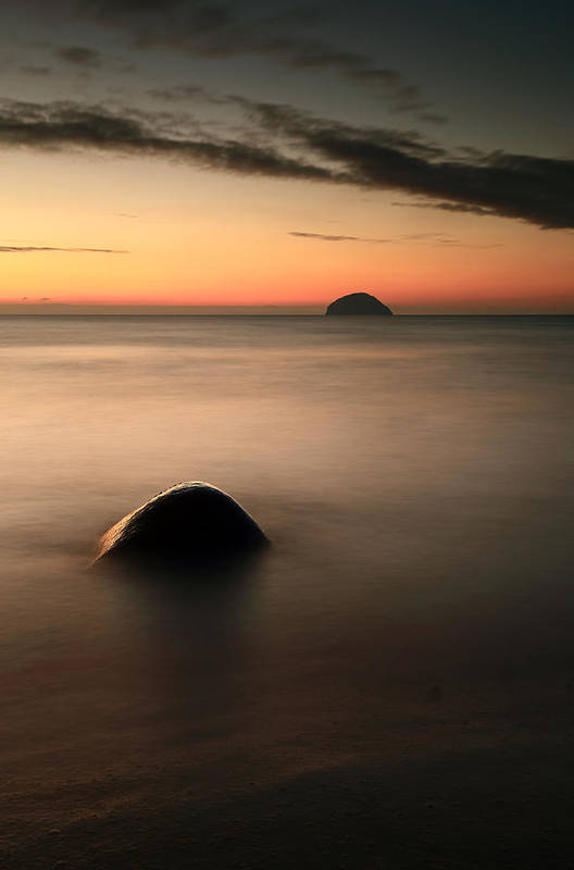 Sunset Poster featuring the photograph Ailsa Craig Sunset by Grant Glendinning