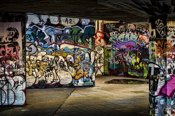 Graffiti Poster featuring the photograph Art Of The Underground by Heather Applegate