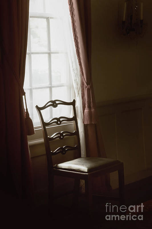 Chair Poster featuring the photograph Dining Room Window by Margie Hurwich