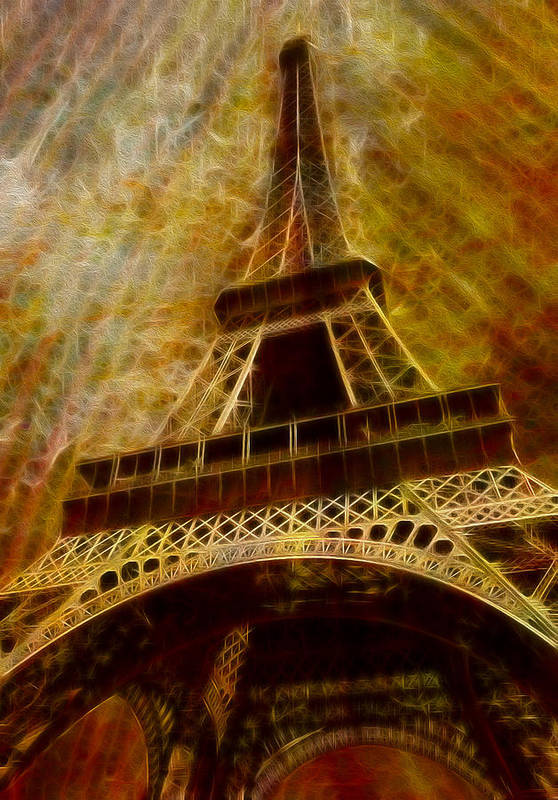 Eiffel Poster featuring the painting Eiffel Tower by Jack Zulli