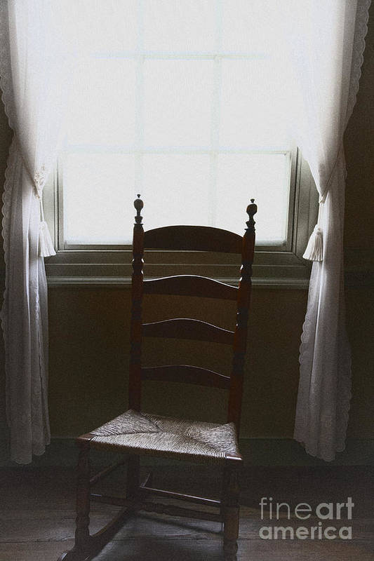 Chair Poster featuring the photograph In The Shadows Of Light by Margie Hurwich