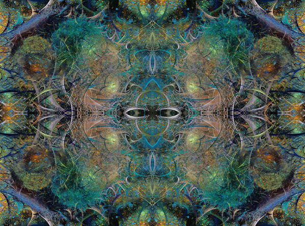 Fractal Poster featuring the digital art Intrigue Of Mystery Four Of Four by Betsy C Knapp