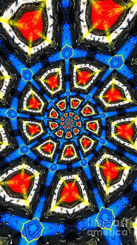 Abstract Poster featuring the photograph Kaleidoscope Of Primary Colors by Amy Cicconi