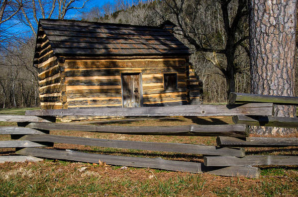 Lincoln Poster featuring the photograph Lincoln's Boyhood Home by Mark Bowmer
