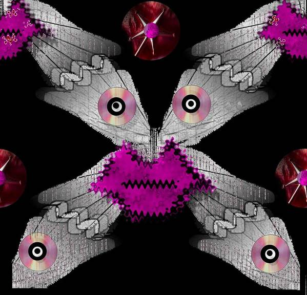 Creature Poster featuring the mixed media Meteoroid Creature Coming From Comets And Androids Pop Art by Pepita Selles