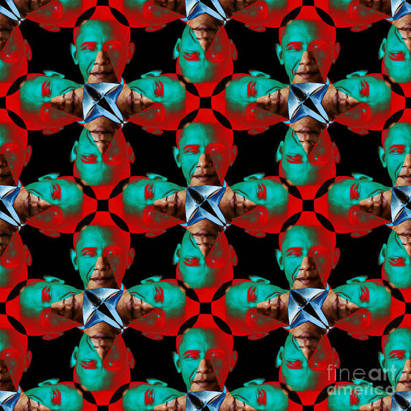 Politic Poster featuring the photograph Obama Abstract 20130202p0 by Wingsdomain Art and Photography