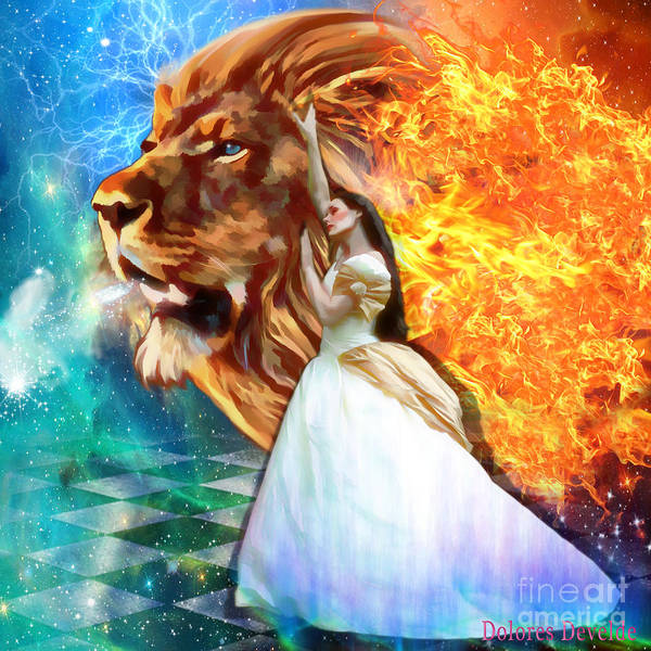 Lion Of Judah Bride Of Christ Poster featuring the digital art Perfect Peace In Perfect Love by Dolores Develde